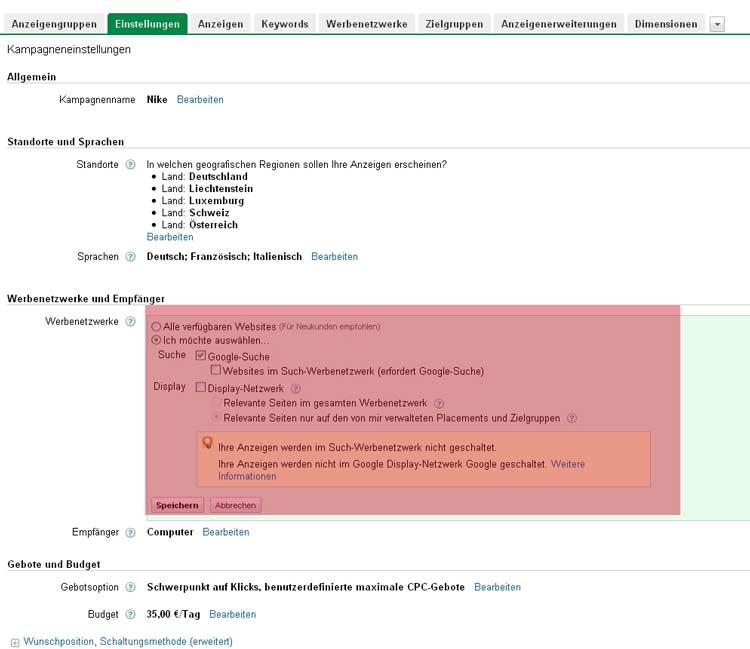 AdWords Display Netzwerk Optimierung