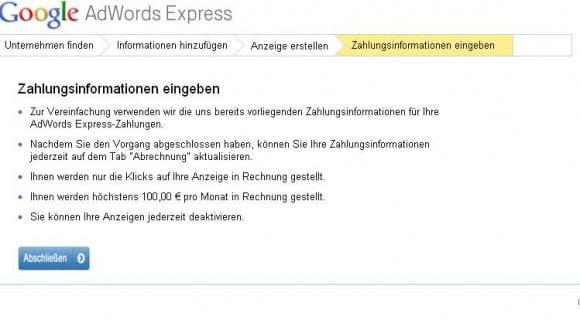 AdWords Express Schritt 2