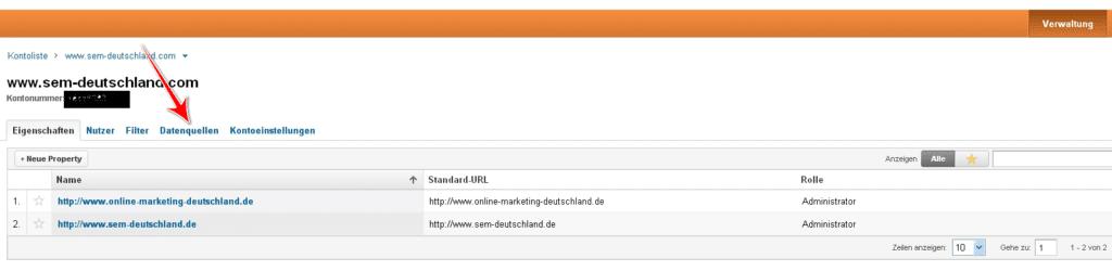 Verknüpfung von Google Analytics und AdWords 1