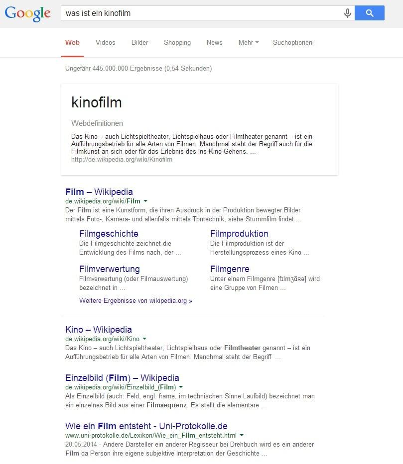 was ist ein kinofilm   Google Suche